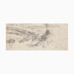 Desconocido, Paisaje, Dibujo a lápiz, Siglo XX