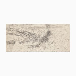 Unknown, Landscape, Drawing in Pencil, 20th Century
