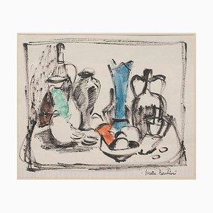 Virette Contu Barbieri, Nature morte, Technique mixte, 1950s