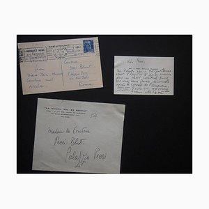 Carte de bonne année signée par Nicolas Nabokov, 1954