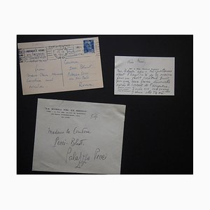 Tarjeta de feliz año nuevo firmada por Nicolas Nabokov, 1954