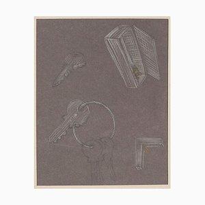 Bruno Conte, Objekte, Pastellzeichnung, 1981