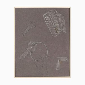 Bruno Conte, Objetos, dibujo al pastel, 1981