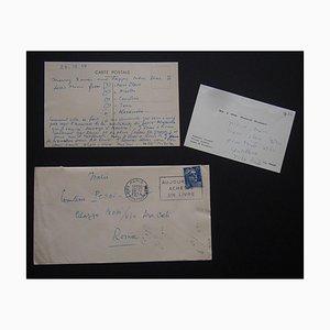 Tarjeta de Feliz Navidad y Próspero Año Nuevo firmada por Nicolas Nabokov, 1954