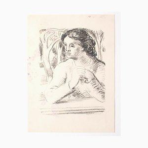 Inconnu, la femme, lithographie, milieu du XXe siècle