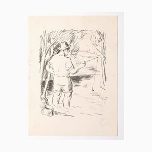 Unknown, The Fisherman, Lithograph, Mid-20th Century