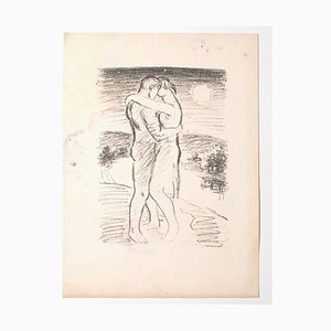 Unknown, The Lovers, Lithograph, Mid-20th Century