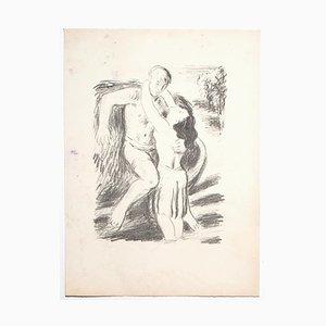 Inconnu, l'Amant, Lithographie, Milieu du XXe siècle