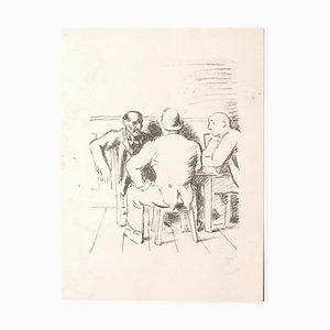 Unknown, The Meeting, Lithografie, Mitte des 20. Jahrhunderts