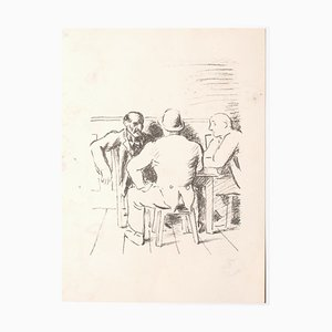 Unknown, The Meeting, Lithograph, Mid-20th Century