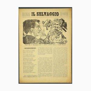 Mino Maccari, The Wild Magazine # 1, Arte con grabados en madera originales, 1934