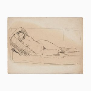 Unknown, Nude Woman, Drawing in Pencil, Frühes 20. Jahrhundert
