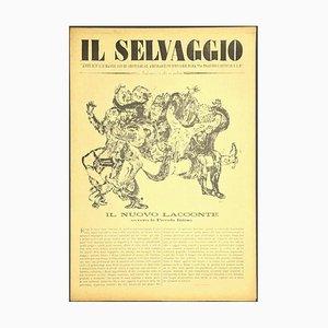Mino Maccari, the Wild # 1 No. 3, Kunstmagazin mit Original Holzschnitten, 1933