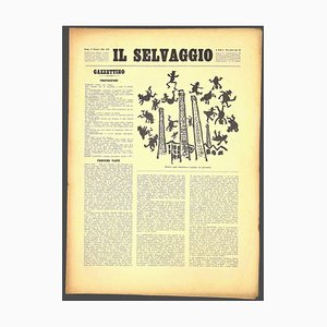 Mino Maccari, the Wild # 11, Art Magazine with Woodcuts, 1934