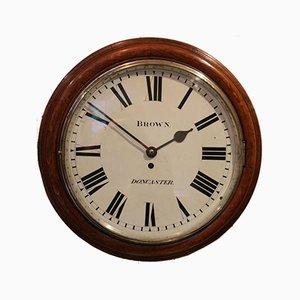 Large Oak Factory Wall Dial Clock