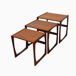Vintage Teak Nesting Tables from G-Plan, Set of 3