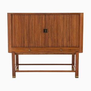 Danish Walnut and Brass Cabinet, 1930s