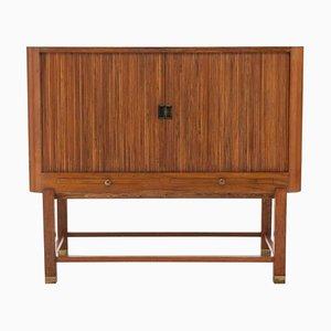 Mueble danés de nogal y latón, años 30