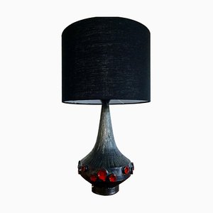 Belgische Kunstkeramik Tischlampe von Rogier Vandeweghe für Perignem, 1960er