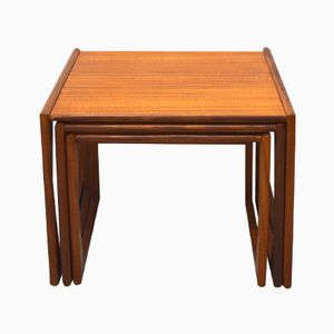Vintage Teak G-Plan Quadrille Nesting Tables, Set of 3