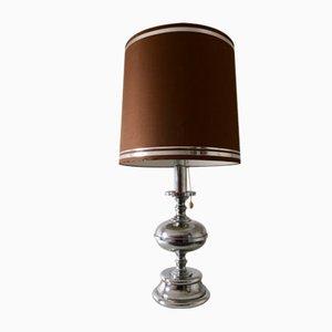 Large Mid-Century Italian Chrome Table Lamp, 1960s