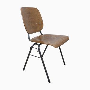Chaise de Bureau Empilable Industrielle par Kho Liang Ie & Wim Crouwel pour CAR Katwijk, 1950s