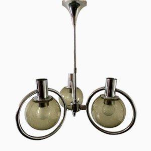 Mid-Century Smoke Glass Ceiling Lamp from Raak, 1970s