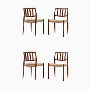 Dänische gepolsterte Esszimmerstühle von Niels Otto Møller, 1950er Jahre, 4er-Set