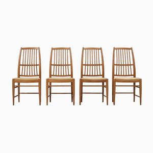 Swedish Napoli Dining Chairs by David Rosén for Nordiska Kompaniet, 1953, Set of 4