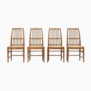 Swedish Napoli Dining Chairs by David Rosén for Nordiska Kompaniet, 1953, Set of 4