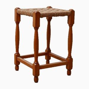 Sgabello o tavolino Mid-Century in corda francese
