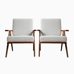 Mid-Century French Armchairs, Set of 2