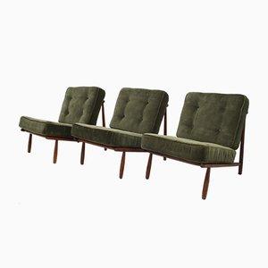 Schwedische Buche Sessel von Alf Svensson für Dux, 1952, 3er Set