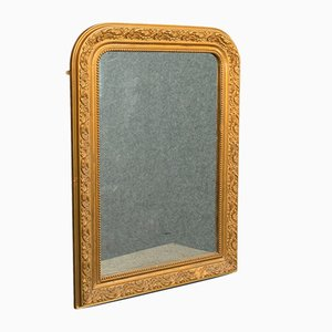 Antique Engish Neo Classical Revival Victorian Gilt Gesso Wall Mirror, 1900s