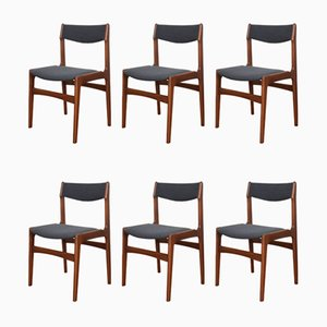 Chaises de Salle à Manger Mid-Century en Teck par Erik Buch, Danemark, 1960s, Set de 6