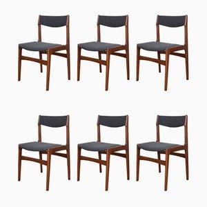 Mid-Century Danish Teak Dining Chairs von Erik Buch, 1960er Jahre, 6er-Set