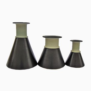 Keramik Vasen von Franco Bucci, 1980er, 3er Set