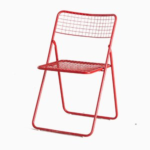 Chaise Pliante Ted Net Rouge par Niels Gammelgaard pour Ikea, 1970s
