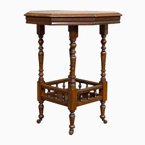 Lampe ou Table d'Appoint Édouardienne Antique en Noyer, 1910s
