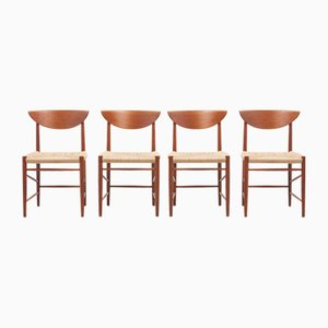 Danish Dining Chairs by Peter Hvidt & Orla Mølgaard-Nielsen for Søborg Møbelfabrik, 1955, Set of 4