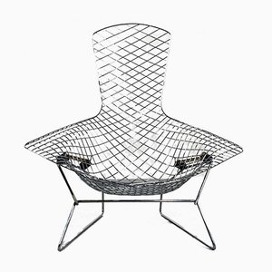 Chromed Bird Lounge Chair by Harry Bertoia for Knoll Inc. / Knoll International, 1970s