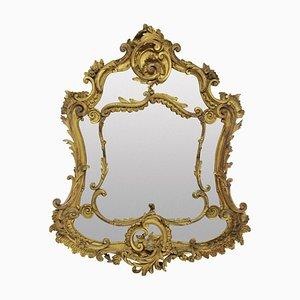 Specchio rococò in legno dorato del XVIII secolo