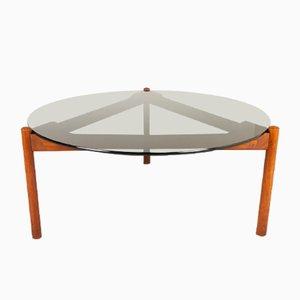 Danish Modern Teak and Glass Coffee Table from Komfort, 1960s
