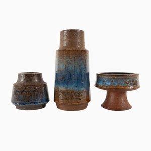 Dänische Vintage Keramik von Michael Andersen & Søn, 1960er, 3er Set