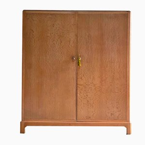 Arts & Crafts Limed Oak Wardrobe from Heal's, 1930s