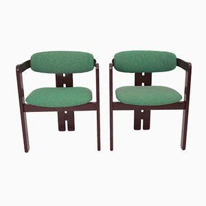 Italienische Mid-Century Modern Esszimmerstühle, 1970er, 2er Set