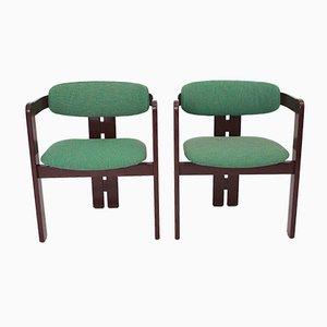 Mid-Century Modern Italian Dining Chairs, 1970s, Set of 2
