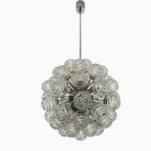 Bubble Glass Sputnik Chandelier from Doria Leuchten, 1960s