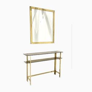 Konsole mit Spiegel von Romeo Rega, 1970er Jahre, 2er-Set