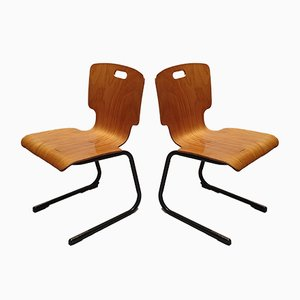 French University Chairs, 1970s, Set of 2